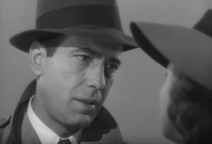 Famous Casablanca scene f/Humphrey Bogart & Ingrid Bergman